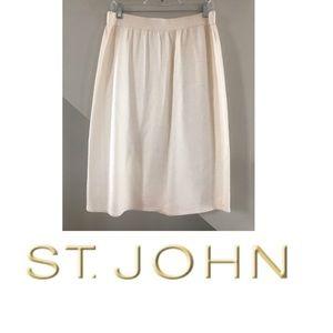 ST. JOHN KNITS PENCIL SKIRT 16 IVORY NORDSTROM